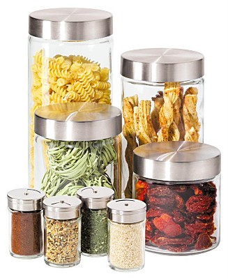 Storing spices in air tight containers so that their freshness and flavor is well retained.