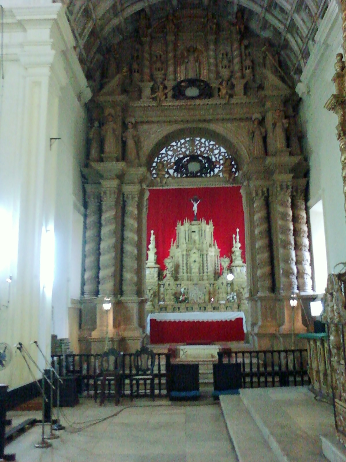Inside a Goan church