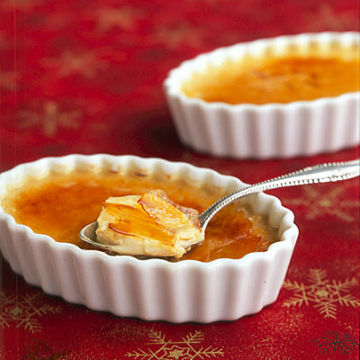 A delicious-looking International Dessert Creme Brulee