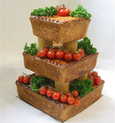 Pork Pie wedding cake 1