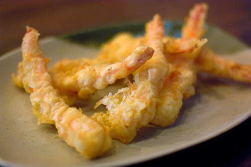 Golden Brown and Crispy Prawn tempura