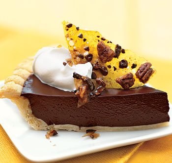 Your chocolate cream pie is now ready to be served.