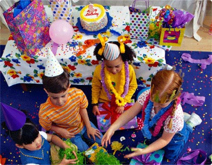 Birthday Party Time. organize a irthday party