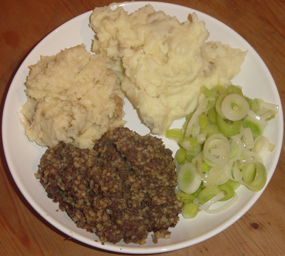 Haggis from Scotland is one of the strange foods of the world