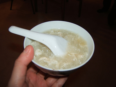 Bird's Nest Soup from China is also one of the most strange foods in the world