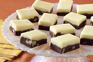 Two layered fudge makes for a delicious Vintage recipe