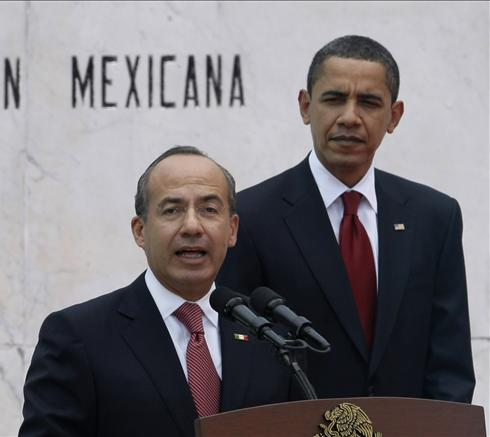 President Obama with President Calderon at the White House