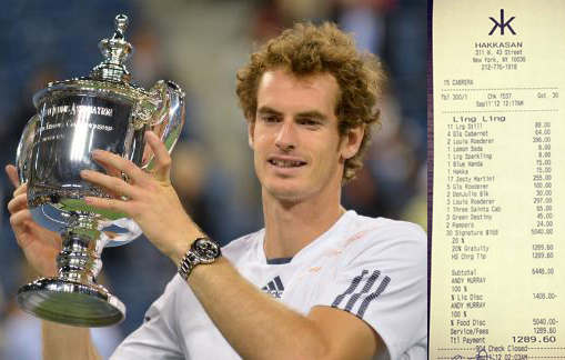 Andy Murray- grand Bill after Grand Slam