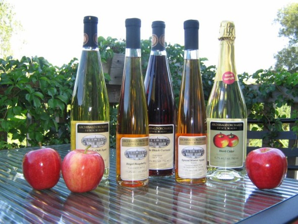 Bottles of Apple Wine