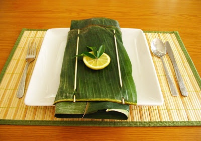 Banana leaf cooking