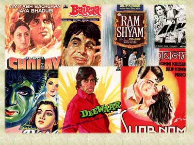 Adding a backdrop of all your favorite Bollywood movie posters is a good idea