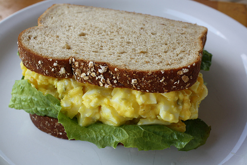 devilled egg sandwich