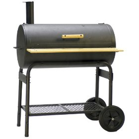 A wheeled trolley has been used to make this drum grill