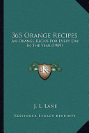 365 Recipes by J L Lane