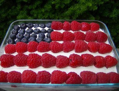 American Flag Cake For 4th Of July Menu