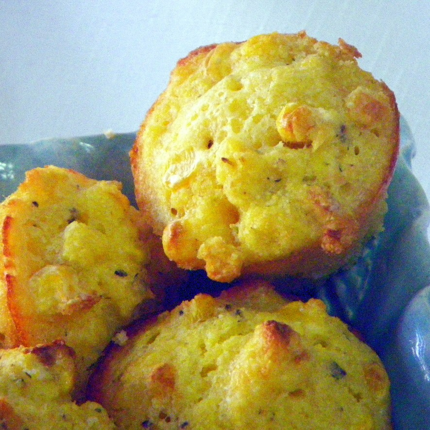 Apple And Cheddar Corn Cupcake