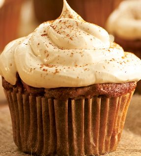 Apple Cinnamon Cupcake With Choco Marshmallow Frosting