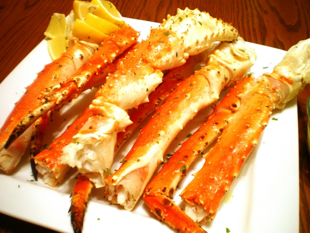 Baked King Crab Legs with Garlic Lemon Butter Sauce - Baked Crab Starters