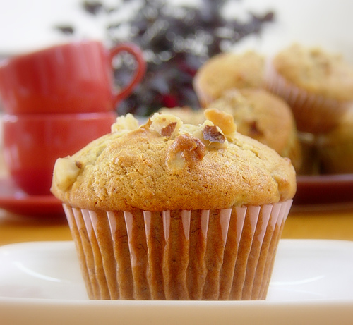 Banana Nut Breakfast Cupcake