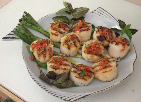 Barbecued Scallops - Delightful Scallops Starters