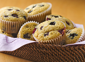 Blueberry Corn Cupcakes