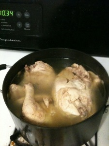 Cooking whole chicken