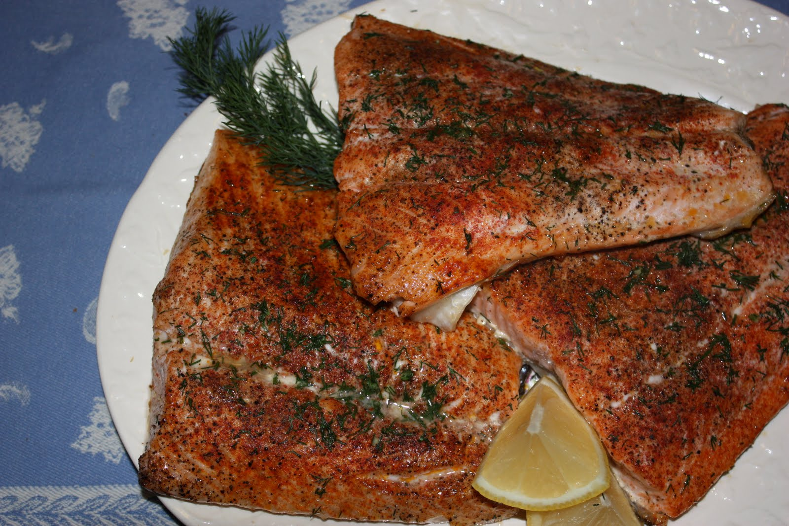 Broiled Salmon Steaks With Parsley Lemon Butter
