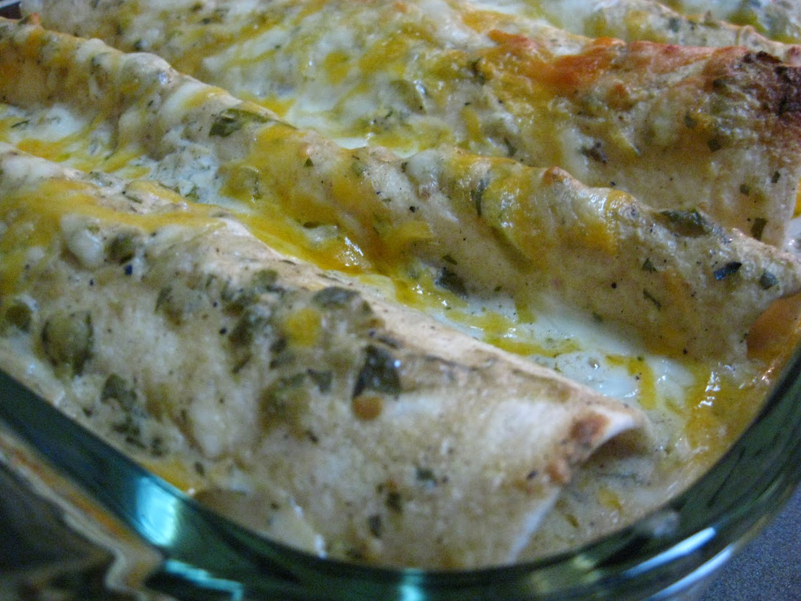 Chicken Salsa Verde Enchiladas