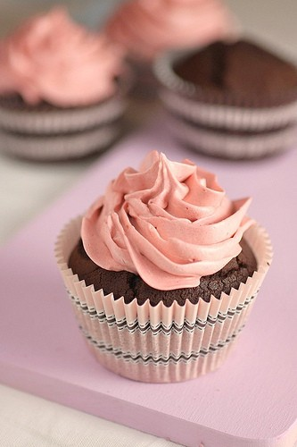 Chocolate Cupcake With French Butter Cream Frosting