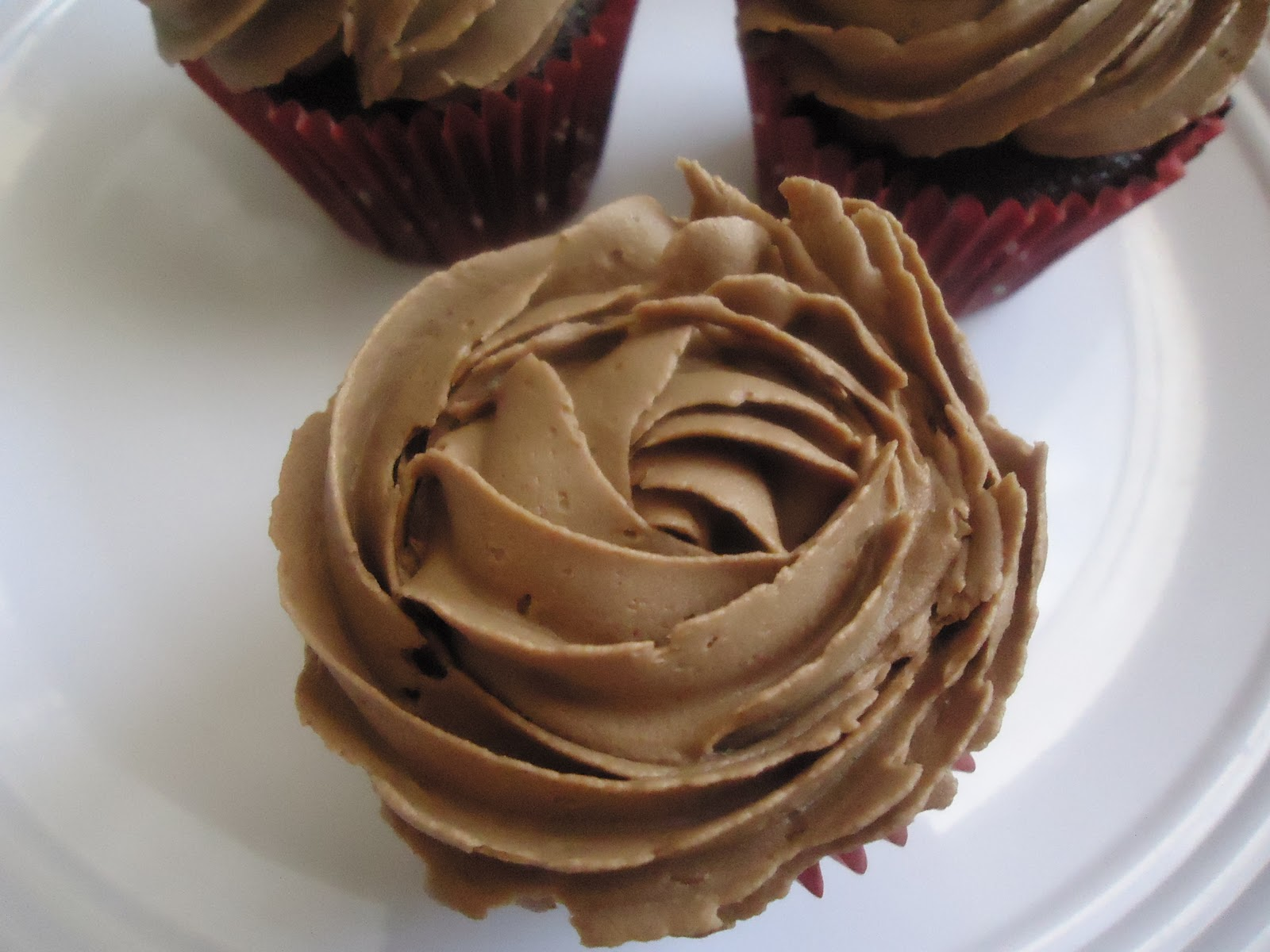 Chocolate and Mint Cupcakes With Chocolate Butter Cream Frosting