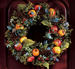 Christmas Fruit Wreath