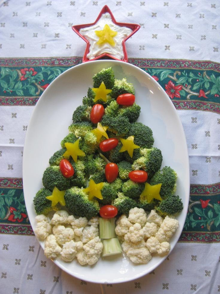 Vegetable Christmas Tray