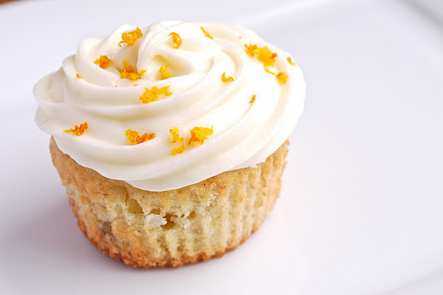 Coconut Cupcake With Pineapple Cream Frosting