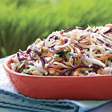 Eating Coleslaw