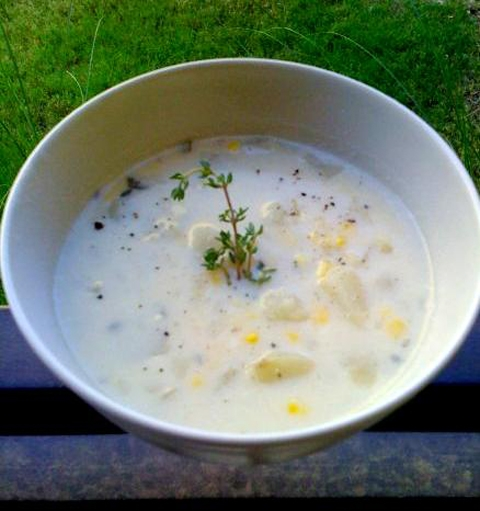 Corn Crab Soup - Hot Corn Starters