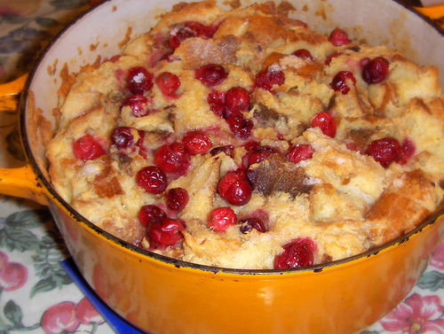 Cranberry Pudding With Cream Sauce