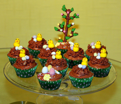 Easter Chick Chocolate Cupcakes