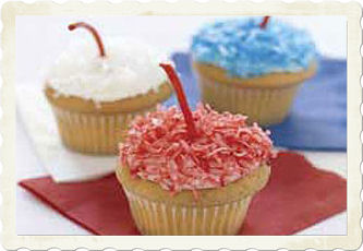 Firecracker Cupcakes For 4th Of July Menu