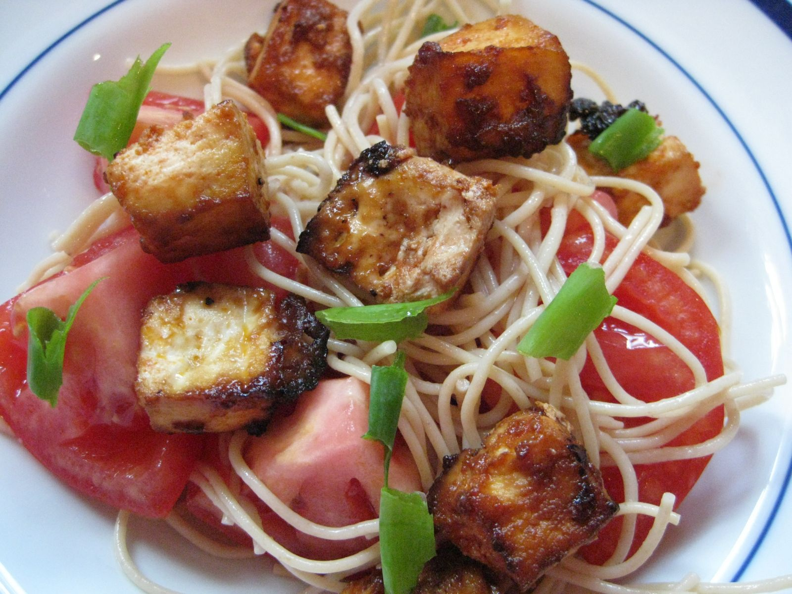 Fried Tofu Pasta