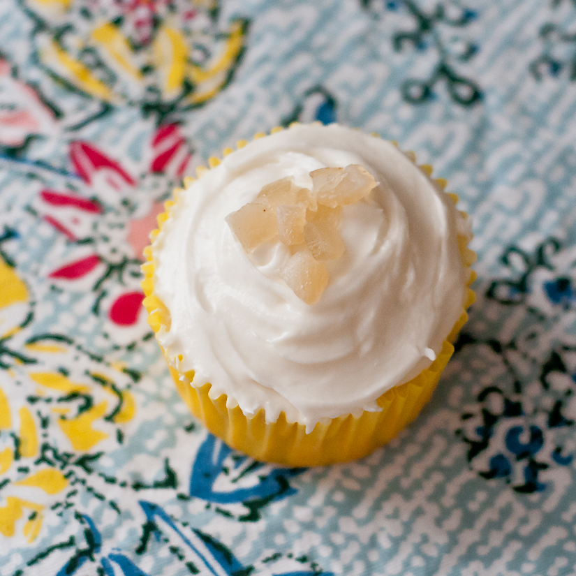 Golden Beet Cupcakes With Honey Nougat Frosting