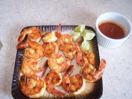 Cook shrimp on a gas grill