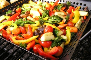 Cook vegetable on a gas grill