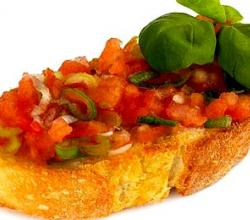 Bruschetta with salsa