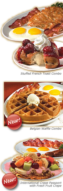 Breakfast dishes on IHOP Menu