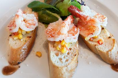 Lemony Prawn Bruschetta
