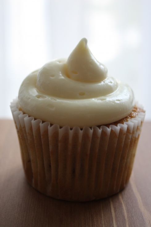 Maple Cupcake With Maple Cream Cheese Frosting