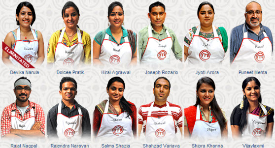Masterchef India 2 Contestants
