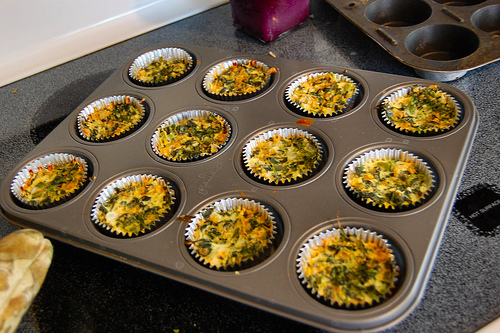 Mini quiche - perfect as finger food for breakfast