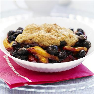 Quick Mix Fruit Cobbler