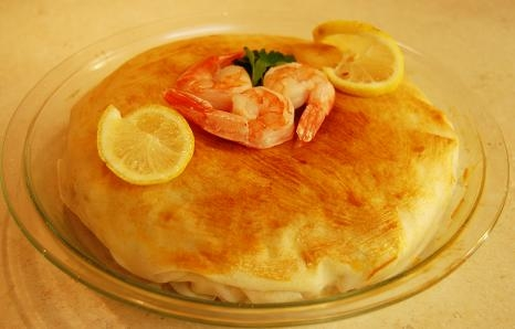 Fish Pie With Lemon Topping